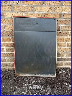 Vintage c. 1950's RC Royal Crown Cola Tin Metal Chalkboard Sign