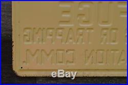 Vintage embossed metal Wisconsin Wild Life Refuge hunting sign
