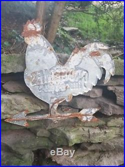 Vintage old Grocery feed dry goods metal sign general store barn farm tractor