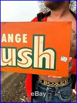 Vintage old original Orange Crush Soda Pop Metal Sign 27X19