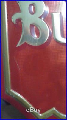 Vintage original Anheuser- Busch Budweiser St. Louis Embossed Tin Metal Sign