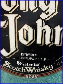 Vintage original metal Long John Scottish whisky Pub Sign (mancave item)