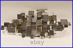 Vtg 1972 MCM Curtis Jere LABYRINTH Wall Sculpture Metal Art Signed Artisan House