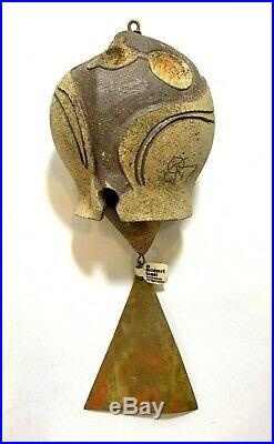 Vtg Original Cosanti Paolo Soleri Ceramic & Metal Wind Chime Bell Vintage Signed