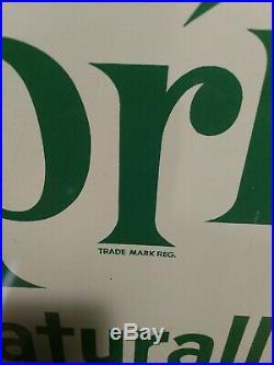 Vtg Original Sprite Metal Sign 31 1/2 x 27 1/4