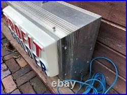 Vtg Profit Builder Lighted Flashing Counter Top Metal Sign Works
