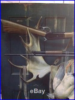 Winchester Cartridges and Guns Metal Sign Alexander Pope ORIGINAL RARE