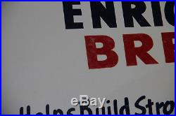 Wonder Bread Sign Large vintage Metal Sign 30x18 circa 1950's
